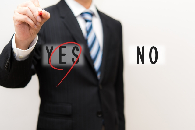 yesを選択する画像